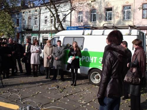 """Площа Ринок 09.11.11, звіт депутатів від """"Фронту змін"""""""